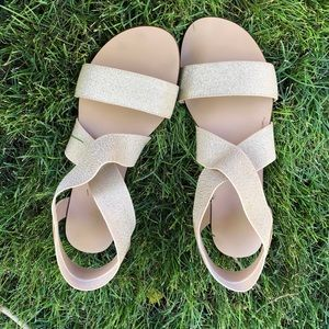 Splendid Cassandra Elastic Gold Sandals